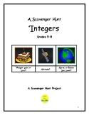 Integers Scavenger Hunt