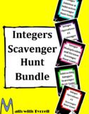 Integers Scavenger Hunt Bundle
