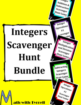 Integers Scavenger Hunt Bundle
