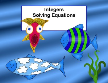 Integers-Solving Equations-60 Task Cards-Middle School