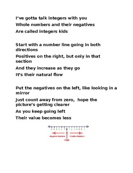 Integers Song