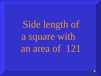 Integers & Square Roots Jeopardy Game PowerPoint