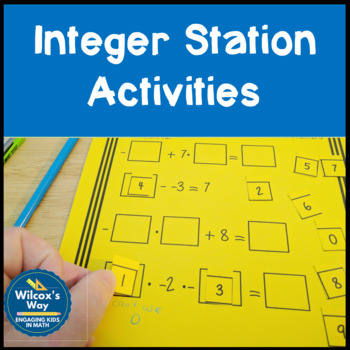 Integers Station Activities
