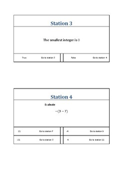 Integers Station Games