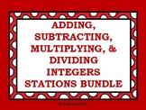 Adding, Subtracting, Multiplying, & Dividing Integers Stations Bundle