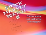 Stock Market Watch - Add and Subtract Integers For Middle