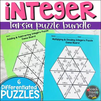 Integers Tarsia Puzzle Bundle