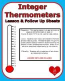 Integers Temperature Lesson and Practice