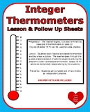 Integers Temperature Lesson and Practice