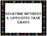 Integers & Their Opposites Task Cards