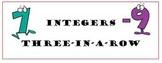 Integers Three-in-a-Row