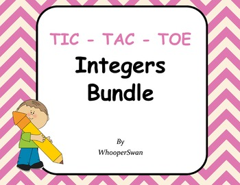 Integers Tic-Tac-Toe Bundle