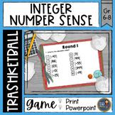 Integers Number Sense Trashketball Math Game
