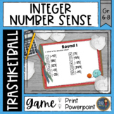Integers Number Sense Trashketball Math Game