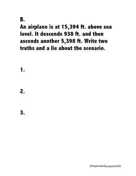 Integers Two Truths and a Lie