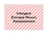 Integers Unit Escape Room Assessment