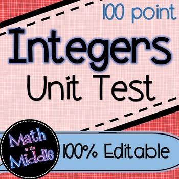 Integers Unit Test