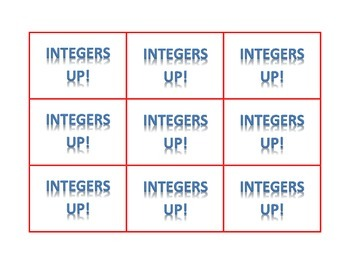 Integers Up! (A Fun Game and Real Life Application)