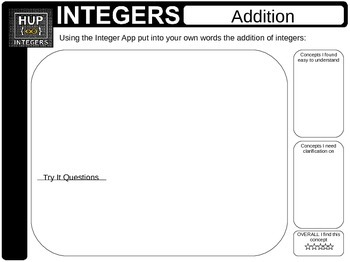 Integers Using Integer App