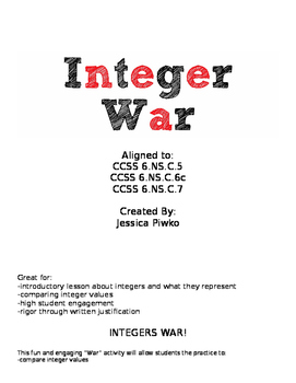 Integers War Activity