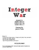 Integers War Activity