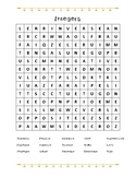 Integers Word Search