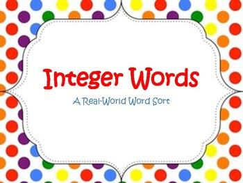 Integers Word Sort