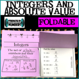 Integers and Absolute Value Foldable Notes for Interactive