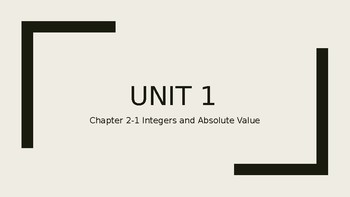 Integers and Absolute Value Lesson Plans