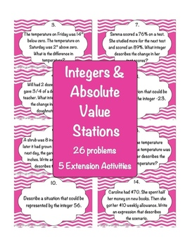 Integers and Absolute Value Stations