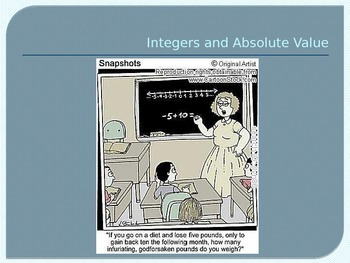 Integers and Absolutes Value