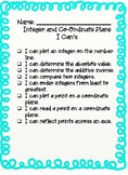Integers and CoOrdinate Plane Notes