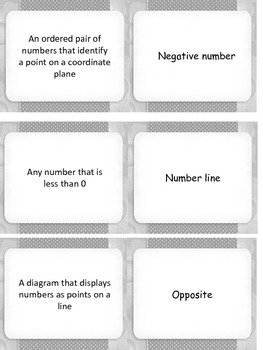 Integers and Coordinate Grid Dominoes