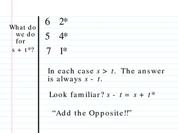 Integers and Operations