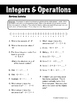 Integers and Operations - Review Sudoku