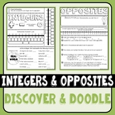 Integers and Opposites Discover & Doodle