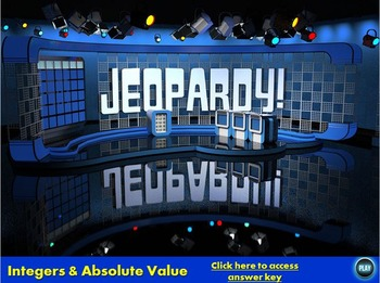 Integers and Rational Numbers Jeopardy