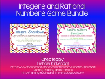 Integers and Rational Numbers Showdown Game Bundle