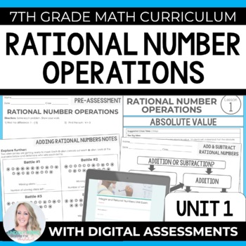 Integers and Rational Numbers Unit : 7th Grade Math