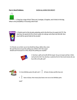 Integers and Rational numbers worksheet
