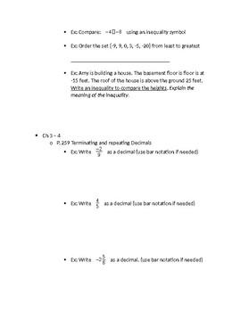 Integers and the Coordinate Plane Study Guide Grade 6