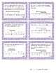 Integers on a Number Line Task Cards