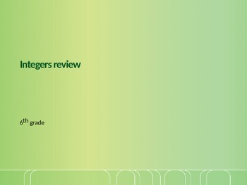 Integers review