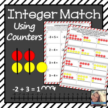Integers using Counters and Numberlines