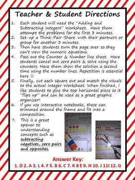 Integer Activity Counters and Numberlines