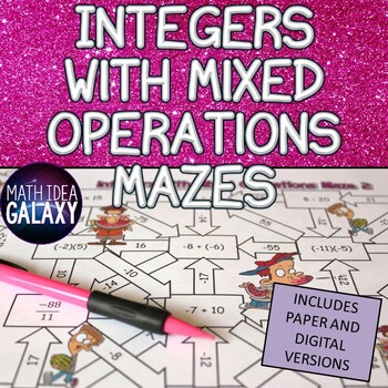 Integers with Mixed Operations Mazes