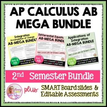 AP Calculus AB Integral Calculus Bundle
