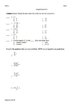 Integral Exponents