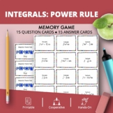 Integrals Power Rules Math Memory Game