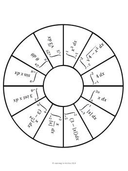 Calculus Integrals Wheel I
